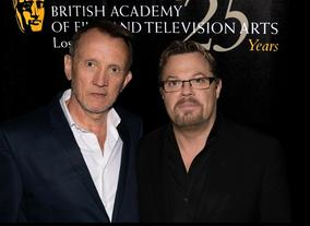 Steve Barron and Eddie Izzard
