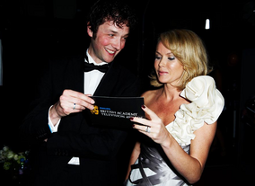 Chris Addison and Amanda Holden at the 2010 BAFTA Television Awards.