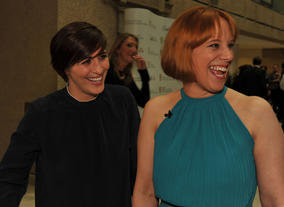Vicky McClure and Kirsten O'Brien at the Television Nominees Party 2012