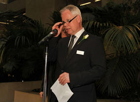 Coutts' Harry Keogh at the Television Nominees Party 2012