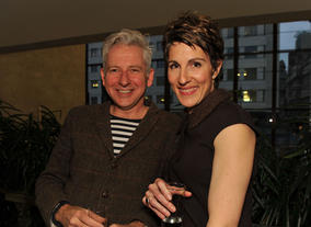 Tamsin Greig and guest at the Television Nominees Party 2012