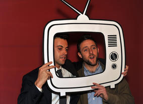 Heydon Prowse and Jolyon Rubinstein at the Boothnation photobooth