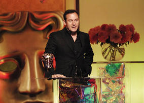 Star of the Harry Potter films Jason Isaacs presents the Award for Editing Fiction/Entertainment (pic: BAFTA / Richard Kendal).