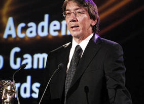 Will Wright accepts the Academy Fellowship at the British Academy Video Games Awards