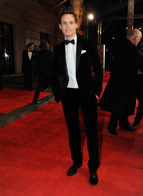 Nominated for the Orange Wednesdays Rising Star Award, Redmayne recently appeared in My Week With Marilyn and TV drama Birdsong. Redmayne is dressed in black velvet by Burberry.