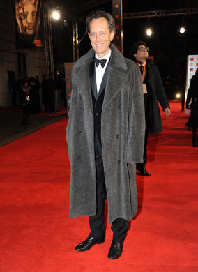 The actor will be hoping for a BAFTA win for his latest film, The Iron Lady, which is nominated in four categories. He is wearing Hackett.