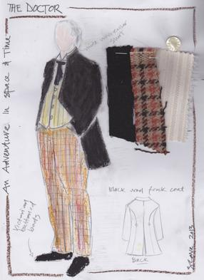 Dr Who Costume Sketch