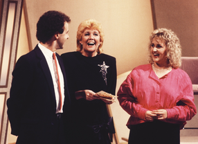 Cilla Black brings two contestants together on Blind Date in 1985