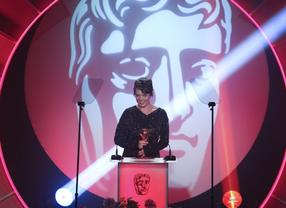 The English Actress whose supporting comedy roles include Sophie in Peep Show and Harriet in Green Wing, presents the Editing: Fiction Award. (Pic: BAFTA/Jamie Simonds)