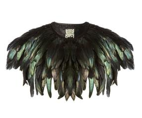 Biba Black Feather Cape