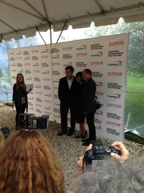 Alec Baldwin and wife with Chairman Stuart Match Suna at Chairman's Party @ Hamptons International Film Festival
