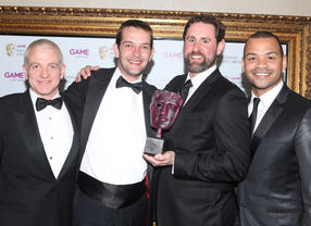 Over 110,000 members of the public cast their vote in this category, with the majority plumping for the latest in the biggest action series of all time. The winners are pictured with presenters Michael Underwood and GAME's Martyn Gibbs. (Pic: BAFTA/Steve Butler)