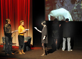 Actors performing at BAFTA/ROCLIFFE New Writing Forum