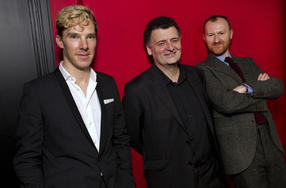 BAFTA Cymru ran a preview screening of Sherlock: The Hounds Of Baskerville in Wales after which Benedict Cumberbatch, Steven Moffat and Mark Gatiss took part in a Q&A session.