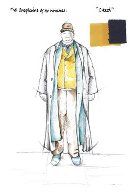 Suspicions Of Mr Whicher: Mr Whicher costume design sketch