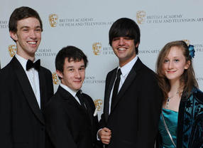 BBC Blast and BAFTA Screen-Skills Award nominees Sam Shetabi, Harriet Beaney, Joe Reed and Jack Crocker arrive at the Television Craft Awards.