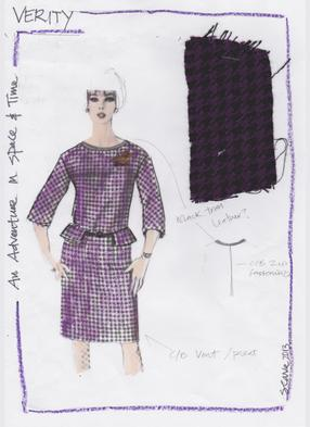 Adventures In Space And Time: Verity Costume Sketch