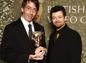 Will Wright accepts the Academy Fellowship at the British Academy Video Games Awards in 2007.