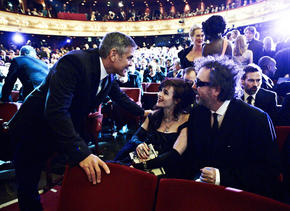 2012 Film Awards - Tim Burton, George Clooney and Helena Bonham Carter