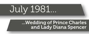Wedding of Charles and Diana banner