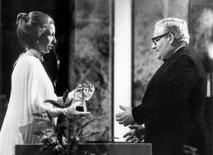 Princess Anne presents Ronnie Barker with the Light Entertainment Performance award for Going Straight & The Two Ronnies in 1979