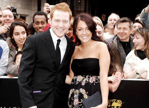 Charlie Clements and Lacey Turner, of EastEnders, on the red carpet