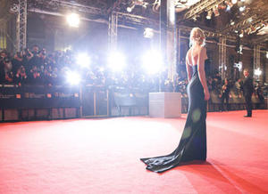The red carpet at the Orange British Academy Film Awards in 2008.
