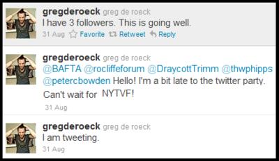 Greg De Roeck Twitter Feed