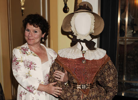 Imelda Staunton arrives at the TV Craft Awards in 2008, with a costume from Cranford.