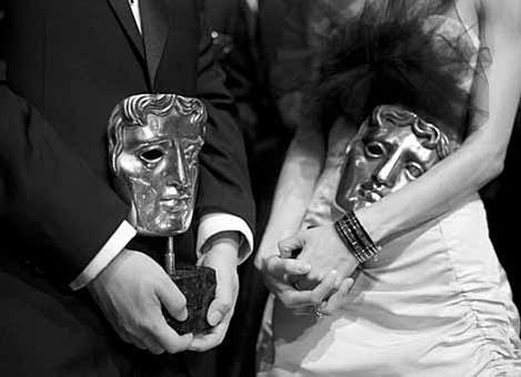 The coveted BAFTA mask