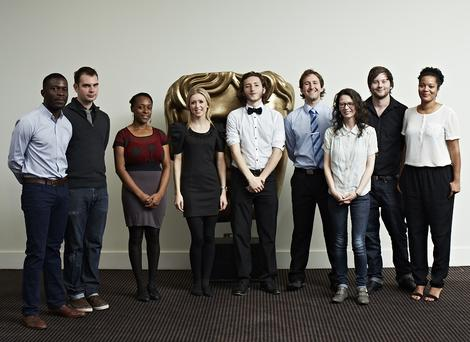 From left to right: Folarin Sagaya, Steven Ferguson, Mawusime Blewuada, Eleanor Pitt, Sam Coleman, Sam Hughes, Rhiannon Evans, Aaron Diebelius, Rienkje Attoh