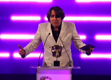 TV presenter and gamer Jonathan Ross presents the BAFTA for Best Game