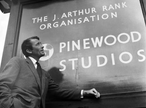 Gregory Peck at Pinewood Studios during filming of Million Pound Note in 1952.