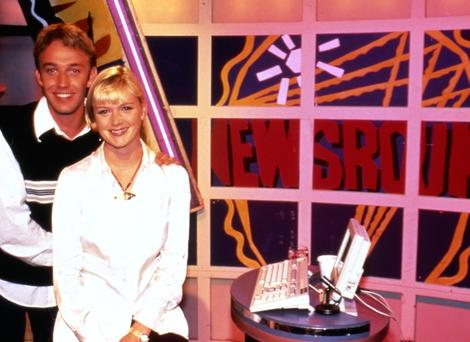 Julie & Chris presented together from October 1994 until Julie left the show in  February 1998 (Pic: BBC Photo Library)