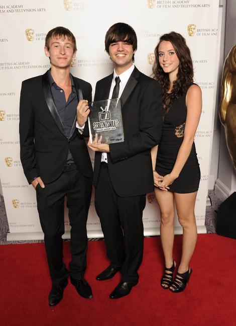 Sam Shetabi, winner of BBC Blast and BAFTA Screen-Skills Award for Director of Photography with actress Kaya Scodelario and actor Elliott Tittensor.
