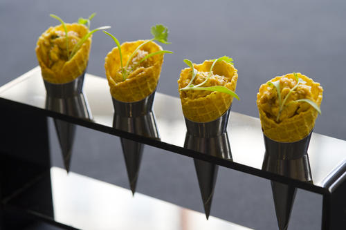 195 Piccadilly Canapes - Coronation Chicken Cones