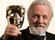 Anthony Hopkins displays his Fellowship BAFTA at the Orange British Academy Film Awards in 2008.