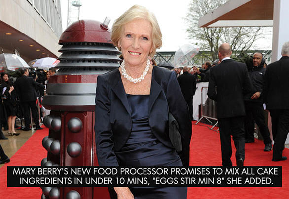 Mary Berry And Dalek winner