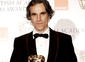 Daniel Day Lewis with his BAFTA for Leading Actor.
