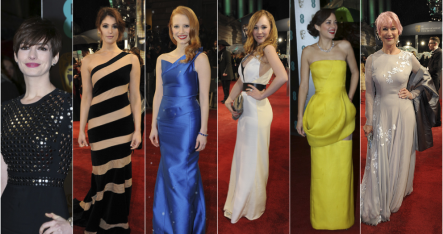 BAFTA Red Carpet Fashion Montage 2013